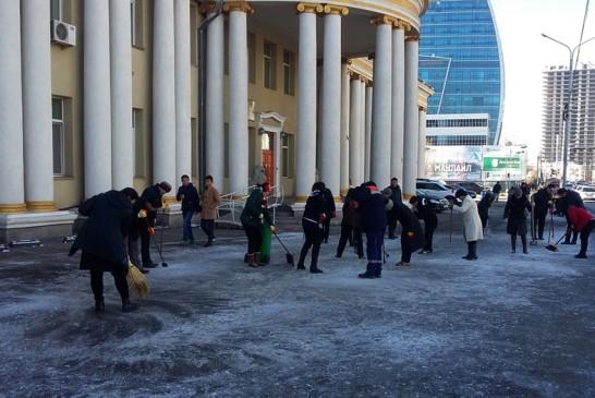 НЗДТГ, агентлаг, харьяа газруудын цас цэвэрлэх гудамж, талбайн хуваарь